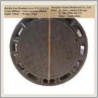 Hot sell ductile iron manhole cover circle manhole cover frame 800mm B125