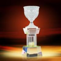 High-end China Crystal Big Bowl Trophy Crystal Crafts in Stock Manufactures