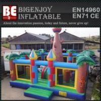 giant plam inflatable bouncer combo playground with climbing