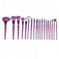 Buy cheap 21pcs cheapest purple makeup brush set from wholesalers