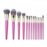Buy cheap 14pcs Charming Colorful Nylon Fibe Professional Makeup Brush Set from wholesalers