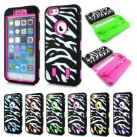 Heavy Duty Hybrid Zebra Rugged Rubber Hard Case Cover for Apple iPhone 6 Plus Manufactures