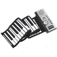 Roll-Up Flexible Full 61 Soft Keys Synthesizer Electronic Piano Keyboard Mic Manufactures
