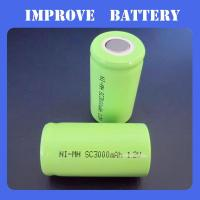 Nimh Battery 1.2V SC 3000mAH rechargeable ni-mh battery Manufactures