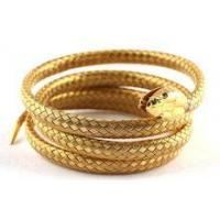 stainless steel simulation gold snake bangle Manufactures
