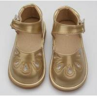 China squeaky shoes top-glory leather sandals and rubber sole kids squeaky shoes wholesale on sale