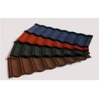 China factory supply stone coated steel roofing tile red blue roofing shingles on sale