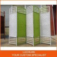 China Fashionable China Supplier Handcraft Straw Room Divider Screen on sale