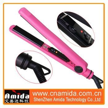 China Classic Black Salon Professional Portable hair iron digital ceramic