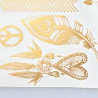 OEM metallic jewelry temporary tattoo sticker manufacturer Manufactures