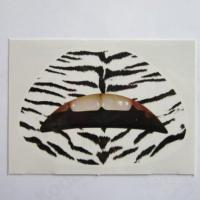 Custom fashion sexy zebra temporary lip tattoo water transfer Manufactures