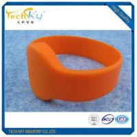 waterproof 13.56mhz rfid access control round silicone wristband Manufactures