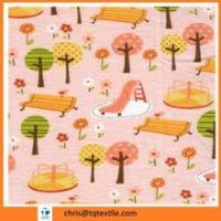 Buy cheap Reactive printing 100% cotton flannel fabric whose stock from wholesalers