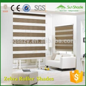 China Price Indoor Home Window Day Night Zebra Roller blinds /Zebra Roller Shades/Zebra Curtains