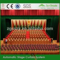 Remote control Flame Resistant custom black church curtains decoration Manufactures