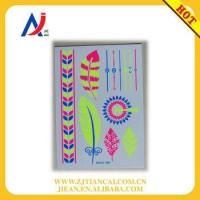 fluorescent body art glowing flower jewelry bracelets fashionable tattoo stickers Manufactures