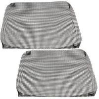 2 Non Stick Oven Baking Tray Crispy Chip Mesh Grill Pan Sheet Basket 35*35cm Manufactures