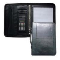 A4 Zip PU Leather Portfolio Folder With Handle Manufactures