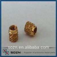 Buy cheap M2.5 brass Knurled insert nut from wholesalers