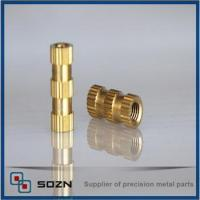 Buy cheap Threaded insert nut/barrel nuts/straight knurling nut from wholesalers