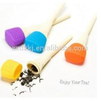Eco-friendly Reusable New design Novelty Silicone tea infuser Manufactures