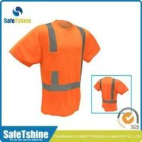 Most competitive reflective fluorescent polyester sports safety T-shirt Manufactures
