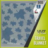 New design maple leaf modacrylic flame resistant woven jacquard travel blanket Manufactures