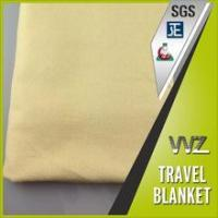 Gold color soft handle feel as wool modacrylic flame resistant travel blanket for train Manufactures
