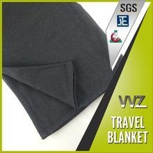 Quality Modacrylic flame retardant woven travel blanket black color soft hand feel as wool for sale