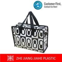 White mixed black non woven zipper tote bags Manufactures