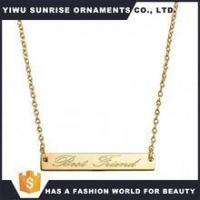 Buy cheap Wholesale Stainless Steel Gold Plated Beautiful Best Friends Gold Bar Necklace For Gifts from wholesalers