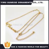Buy cheap 18K Gold Plated Angel Name Necklace Jewelry Custom Nameplate Necklace from wholesalers