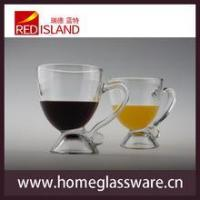 8 OZ glass cup for juice and wine with handle,transparent Creative Cup Manufactures
