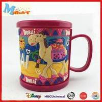 China Eco-Friendly Feature soft pvc kids personalized plastic mugs on sale