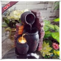 Buy cheap LED Polyresin Indoor Mini Wall Pot Electric Tiered Tabletop Fountain from wholesalers