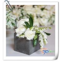 Buy cheap Wedding Gift Mini Square Light Foam Cement Flower Pot Planter from wholesalers