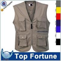 man Sleeveless cheap safety work vest Manufactures