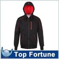 Buy cheap Hoodie polyester berber Fleece hoodie,men zipper hoodie with lining ,men stylish hoodie for european from wholesalers