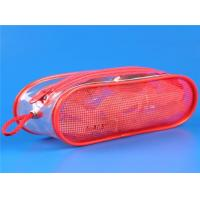 red PVC mesh packaging bag with zipper