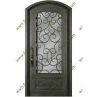 Buy cheap Interior/Exterior eyebrow arch top single iron doors from wholesalers