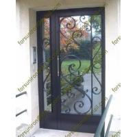 Buy cheap Unequal double swing wrought iron door from wholesalers