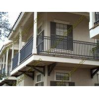 China Simple design wrought iron balcony railings/porch railings with low price on sale