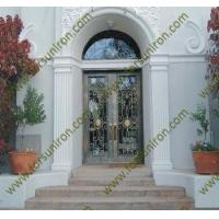 Buy cheap entry doors wrought iron door with transom from wholesalers