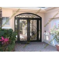 Buy cheap iron doors with sidelights,exterior double doors with sidelights from wholesalers