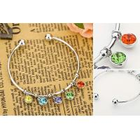 Colorful CZ Crystal Bangle Bracelet Item: B0013 Manufactures