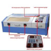 Buy cheap mini portable wood acrylic rubber stamp co2 40w laser engraving cutting machine from wholesalers