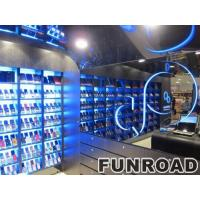 Cell phone and accessory retail store glass shelves LED lighted Manufactures