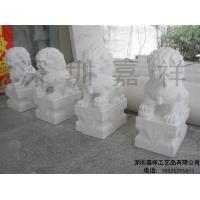 China White marble sculpture White marble stone lions JX-001 on sale