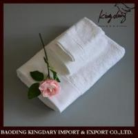 Buy cheap Towel sets Thickness jacquard border white hotel bath towel from wholesalers