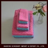 Buy cheap gaoyang cotton towel set with diamond jacqured from wholesalers